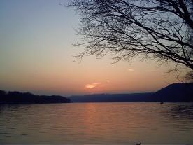 Sonnenuntergang über dem Baldeneysee